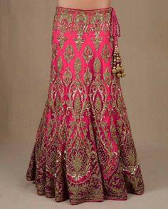 Fuchsia Heavily Embellished Lengha Set - Lenghas - Wedding - Wedding