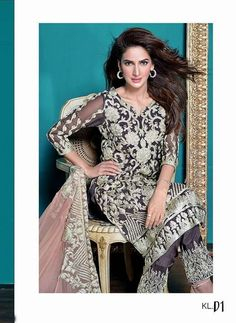 Pure Chiffon un-stitched beautiful Celestial Designs Collection which makes You Center of Attention Price: Rs.6500 For purchase of the dress, please visit www.HauteCouture.pk