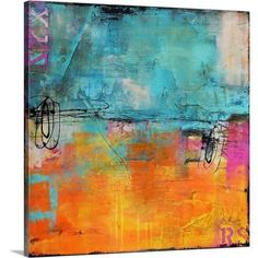 """Titled """"Urban Poetry"""" by Erin Ashley, these incredible matching abstract canvas prints brighten up the living room. Abstract art prints offset rooms with existing contemporary or traditional elements, and to add a visually stimulating focus to the room. Abstract Canvas, Canvas Art Prints, Painting Prints, Canvas Wall Art, Big Canvas, Art Paintings, Canvas Size, Abstract Paintings, Urban Poetry"""