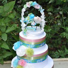 "Wedding cake topper.  Love birds.  Paper mache.  Portrays the Hawaiian love message Mau Loa ""forever"". $65.00, via Etsy."