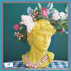 DIY And Household Tips: Make A Floral Crown Using Dollar Store Flowers