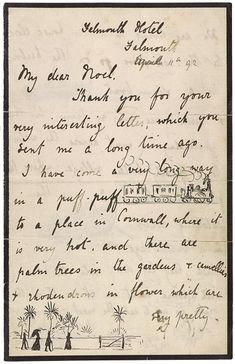 The Morgan Library & Museum Online Exhibitions - Beatrix Potter: The Picture Letters - Letter to Noel Moore, March 11, 1892, page 1