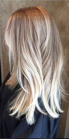 Ashy. Blonde. Honey. Highlights. Pretty for fall.