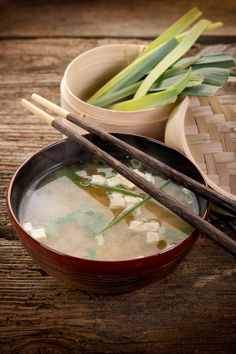 Miso soup! Dr. Oz. espouses it as one of the top three superfoods for blasting belly fat. Perfect! Bakerette.com