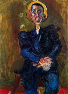 Chaim Soutine (January 13, 1893 – August 9, 1943)   Boy in Blue