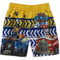 Paw Patrol Toddler Boy Marshall and Chase Swim Trunks