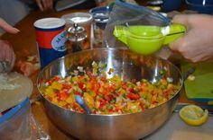 Salade de poivrons - Recette Mouna