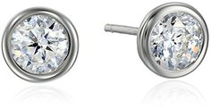 Sterling Silver Bezel Martini Set Cubic Zirconia Solitaire Earrings (0.9 cttw) Amazon Collection http://www.amazon.com/dp/B004GXBP1U/ref=cm_sw_r_pi_dp_0GSaxb0PPNTHM