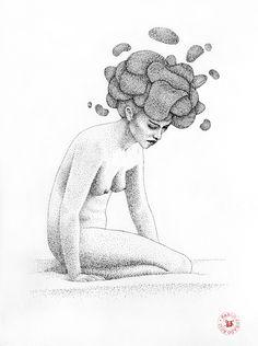 Unhappy girl by Pablo Jurado Ruiz, via Behance