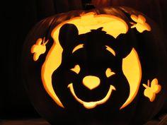 Top 60 Creative Pumpkin Carving Ideas for a Happy Halloween Winnie the Pooh Kürbis! Halloween Pumpkin Carving Stencils, Amazing Pumpkin Carving, Pumpkin Carving Templates, Pumpkin Carvings, Disney Pumpkin Stencils, Carved Pumpkins, Pumkin Carving Easy, Disney Pumpkin Carving Patterns, Pumpkin Designs Carved