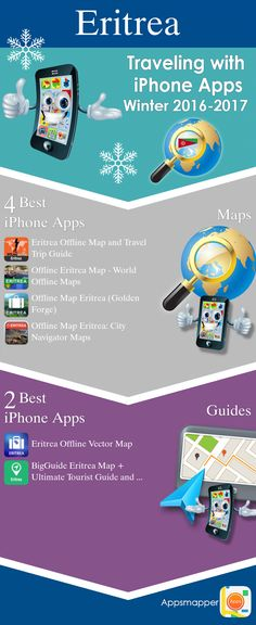 Eritrea iPhone apps: Travel Guides, Maps, Transportation, Biking, Museums, Parking, Sport and apps for Students.