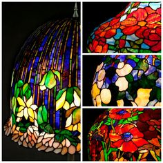 Wieniawa Piasecki lamps, inspired by L.C. Tiffany  #tiffany #lamp www.e-witraze.pl #manmade #stainedglass #handcrafted #unique #metalware #louis #comfort #glass #flower #flowers #banded #dogwood #tablelamp www.e-witraze.pl #poland #design #art #light #retro