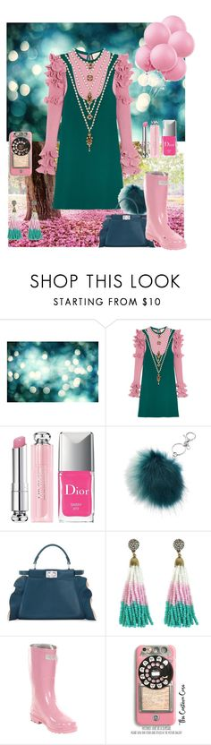"""""""Pink and teal contest"""" by blumbeeno on Polyvore featuring Gucci, Christian Dior, Mudd, Fendi, Forever Young and Samsung"""