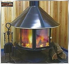 Carousel Freestanding Wood Heater In Black By Abbey Fireplaces.