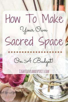 How to set up your own sacred space on a budget! It's easier than you think find out how here!