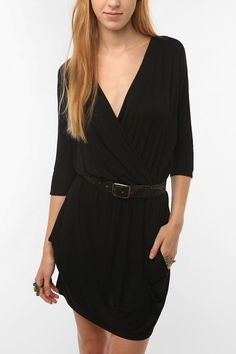 Urban Renewal Surplice Drape Dress  #UrbanOutfitters