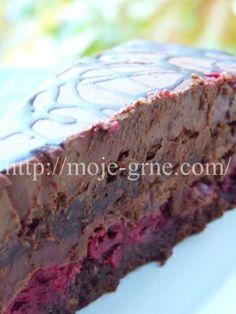 Čokoladna torta sa višnjama - My site Cookie Desserts, Chocolate Desserts, No Bake Desserts, Easy Desserts, Cookie Recipes, Dessert Recipes, Rodjendanske Torte, Torte Recipe, Kolaci I Torte