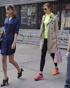 Taylor and Karlie leaving the gym in NYC 4/26