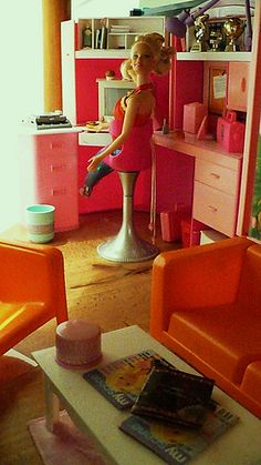 Barbie home office | Flickr - Photo Sharing!