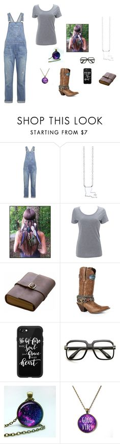 """""""Untitled #1484"""" by baeray ❤ liked on Polyvore featuring Current/Elliott, Bridge Jewelry, Simplex Apparel, Rear View Prints, Durango, Casetify and ZeroUV"""
