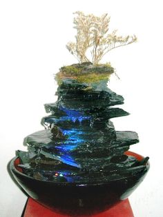 Fuente De Agua Piedras Feng Shui 5 Caidas