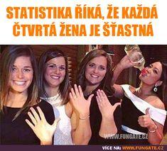 Statistika říká, že každá čtvrtá žena je šťastná