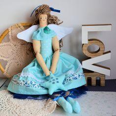 Anioł stróż - zawieszka - dekoracja - opiekun dobrego snu i realizacji marzeń - 46 cm #clothdoll, #doll #handmade #stuffed #toy @pracownia.malykoziolek #handpainted #angel #baptism #tilda Harajuku, Dolls, Style, Fashion, Baby Dolls, Swag, Moda, Fashion Styles, Puppet