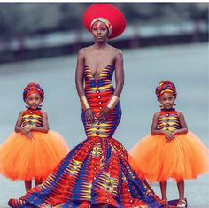 McClure twins: See gorgeous photos of the McClure twins twinning with their mother in African attire African Fashion Designers, African Inspired Fashion, African Print Fashion, Africa Fashion, African Prints, African Attire, African Wear, African Dress, African Prom Dresses