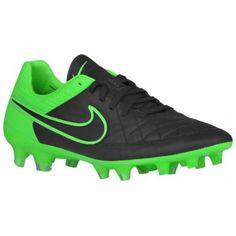 Nike Tiempo Legend V K Leather FG - Men's - Soccer - Shoes - Black/Green  Strike/Black-sku:31518003