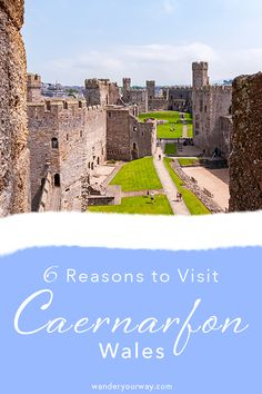 Caernarfon, Wales is a beautiful town that need to be on your North Wales itinerary. It has the stunning Caernarfon Castle, a beautiful waterfront area and Medieval streets to wander about. #wales #uktravel #castles #caernarfon #travelphotography #wanderyourway