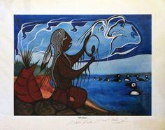 Hell Diver, Moses Amik Beaver Native Canadian, Native American, Native Art, Nativity, Graphic Art, Woodland, Art Gallery, Coast, Artists