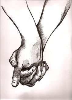♢ holding hands pencil sketch