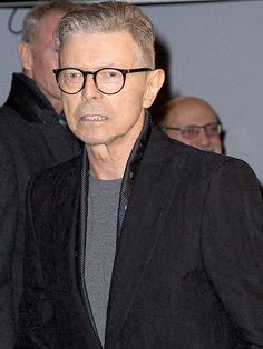 David Bowie smiled as he attended opening night of his stage show LAzarus in December
