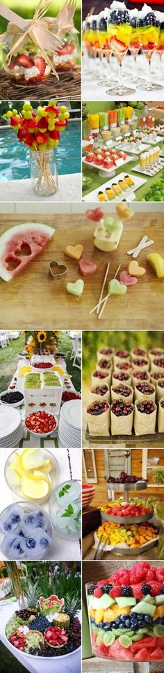 Party at home: Tip healthy and delicious menus for fe … – Table Ideas Buffet Vegan, Tropical Party, Snacks Für Party, Cute Food, Food Design, Luau, Food Art, Kids Meals, Food And Drink