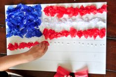 4th of July Tissue Paper Craft for Kids - Blissfully Domestic