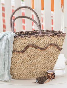 Vicky's Home: Diy capazo de paja y crochet / Diy straw bag and crochet