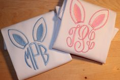 EASTER BUNNY EAR Monogram Shirt perfect for by SweetOandTDesigns, $19.00
