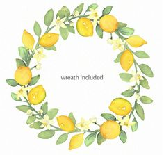 Ceramic Cafe, Lemon Watercolor, Owl Clip Art, Summer Clipart, Wreath Drawing, Mail Art, Watercolor Illustration, Flower Power, Things To Come