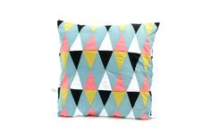 harlequin patchwork cushion cover multicolored  by lisasfactory, €75.00