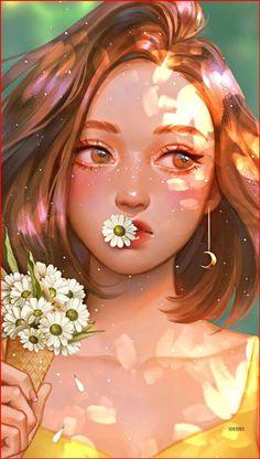 Cute Art Styles, Cartoon Art Styles, Girly Drawings, Art Drawings Sketches, Cartoon Girl Drawing, Cute Girl Drawing, Cute Cartoon Girl, Cartoon Drawings, Arte Sketchbook