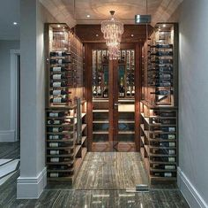 20 Luxury Residence Design Ideas there is Wine Room Glass Wine Cellar, Home Wine Cellars, Wine Cellar Design, Decoration Inspiration, Decoration Design, Deco Design, Home Interior, Interior Design Living Room, Caves