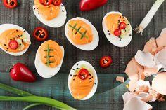 Game Day Sriracha Deviled Eggs  