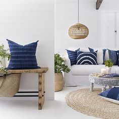 WEBSTA @ villastyling - @shakiraazhomewares stunning indigo cushion collection…