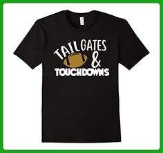 Mens Tailgates and Touchdowns Football Fall Party T-Shirt 2XL Black - Sports shirts (*Amazon Partner-Link)