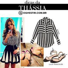 Compre moda com conteúdo, www.oqvestir.com.br #Fashion #Thássia #Mixed #LuizaBarcelos #Pretty #Summer #Pink #Stripes