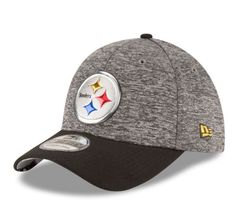 a05795397 Pittsburgh Steelers New Era Heathered Gray Black 2016 NFL Draft 39THIRTY  Flex Hat