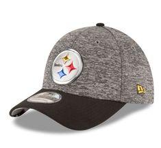 c2a360233 Pittsburgh Steelers New Era Heathered Gray Black 2016 NFL Draft 39THIRTY Flex  Hat