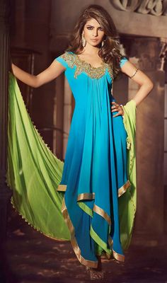 Want To feel like Bollywood Celebrity? Shop Bollywood Salwar Kameez Online from Don't worry about the price. Designer Anarkali, Bollywood Dress, Bollywood Fashion, Bollywood Suits, Bollywood Heroine, Indian Attire, Indian Wear, India Fashion, Asian Fashion