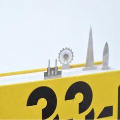 知名地標書籤 城市天際線躍然書本上   大人物