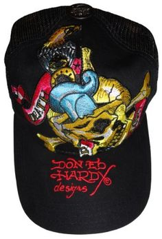 Amazon.com  Men s Ed Hardy Hat Baseball Cap Death or Glory Black  Clothing 81aa83fe284